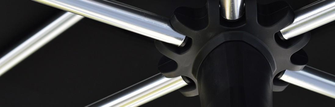 Aluminium parasols – Sturdy, light and sustainable